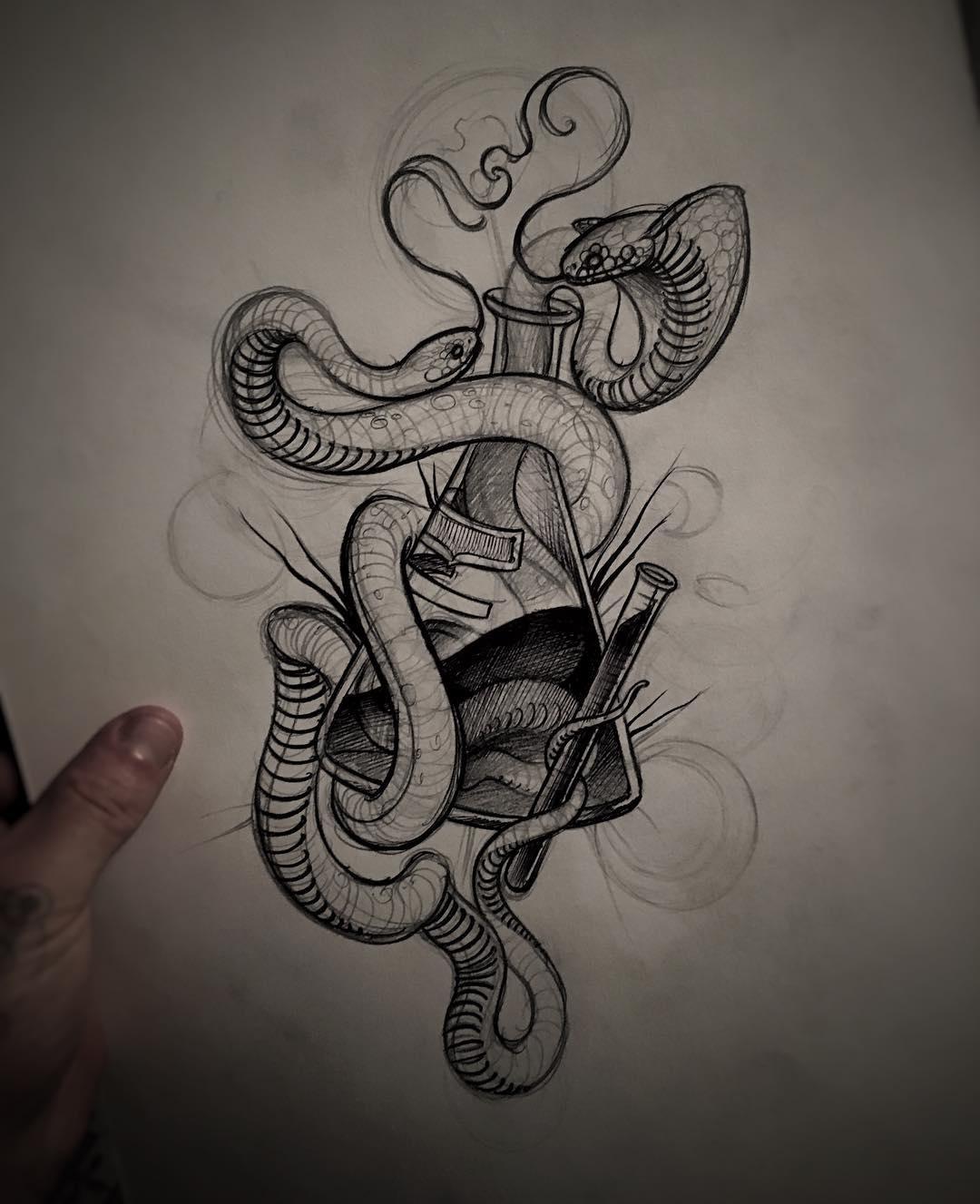 Snakes Drawing At GetDrawings