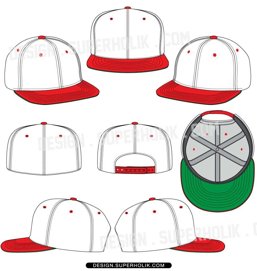 827x870 Hat Template Flat Bill Snapback Amp Fitted. Httpdesign
