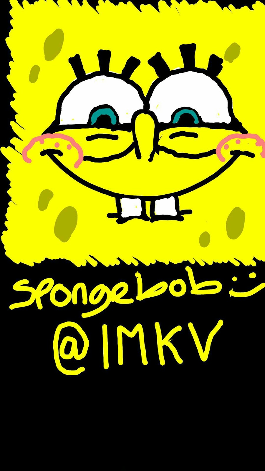 900x1600 Snapchat Drawings Spongebob