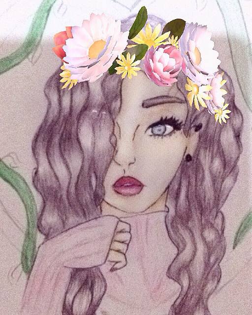 512x640 A Semi Realistic Drawing Of A Normal Girl. (The Snapchat Filter
