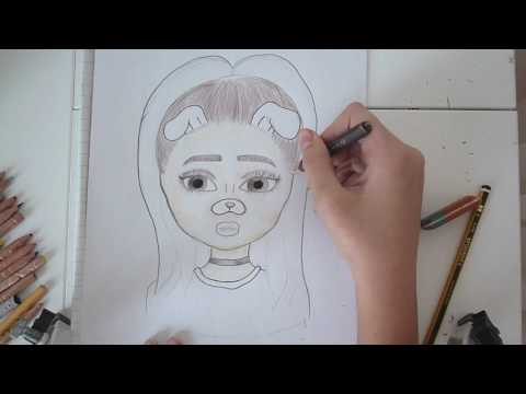 480x360 How To Draw Ariana Grande With A Snapchat Filter I Fanart I Tessa