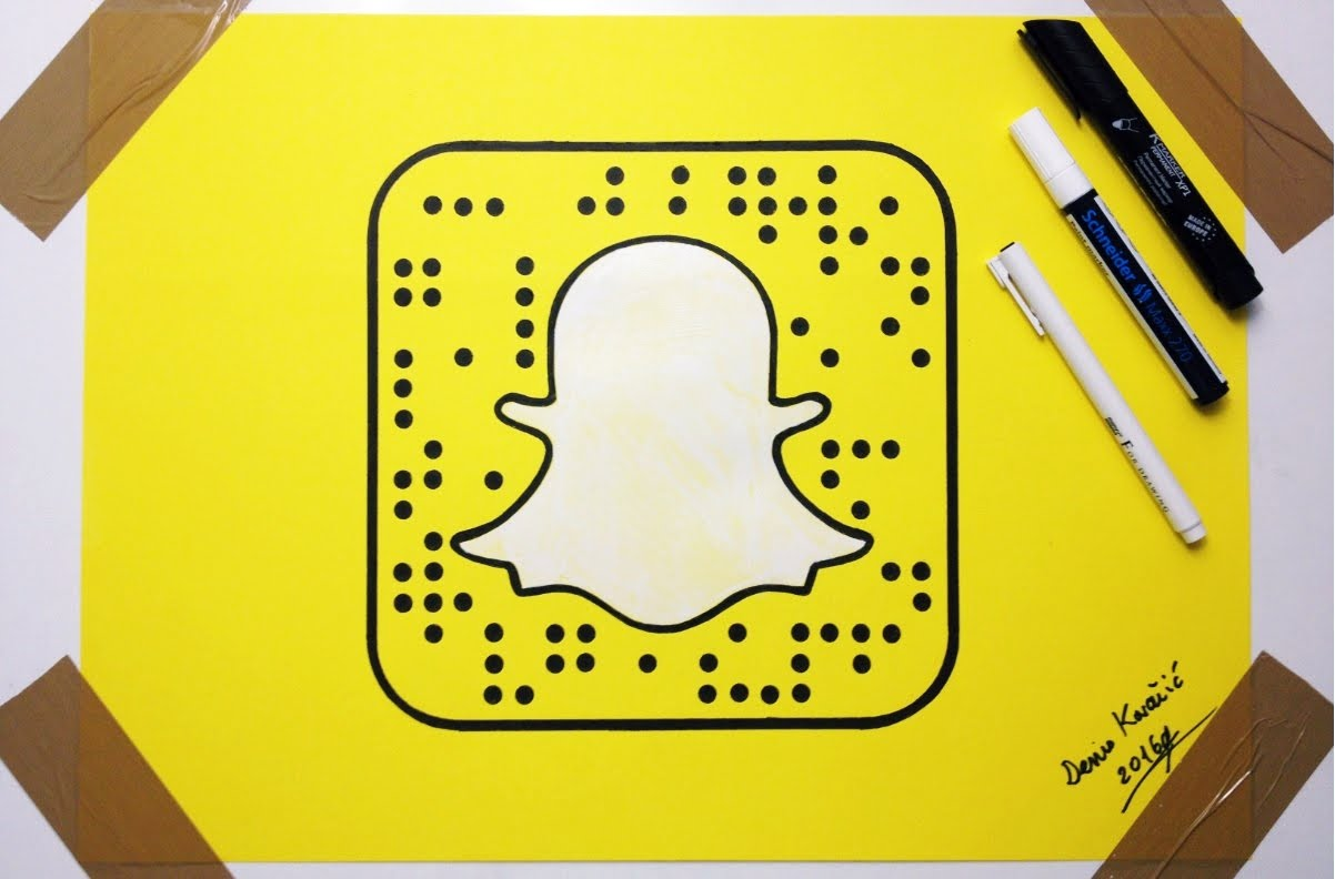 photo about Printable Snapchat Logo identified as Snapchat Brand Drawing at  Cost-free for particular person