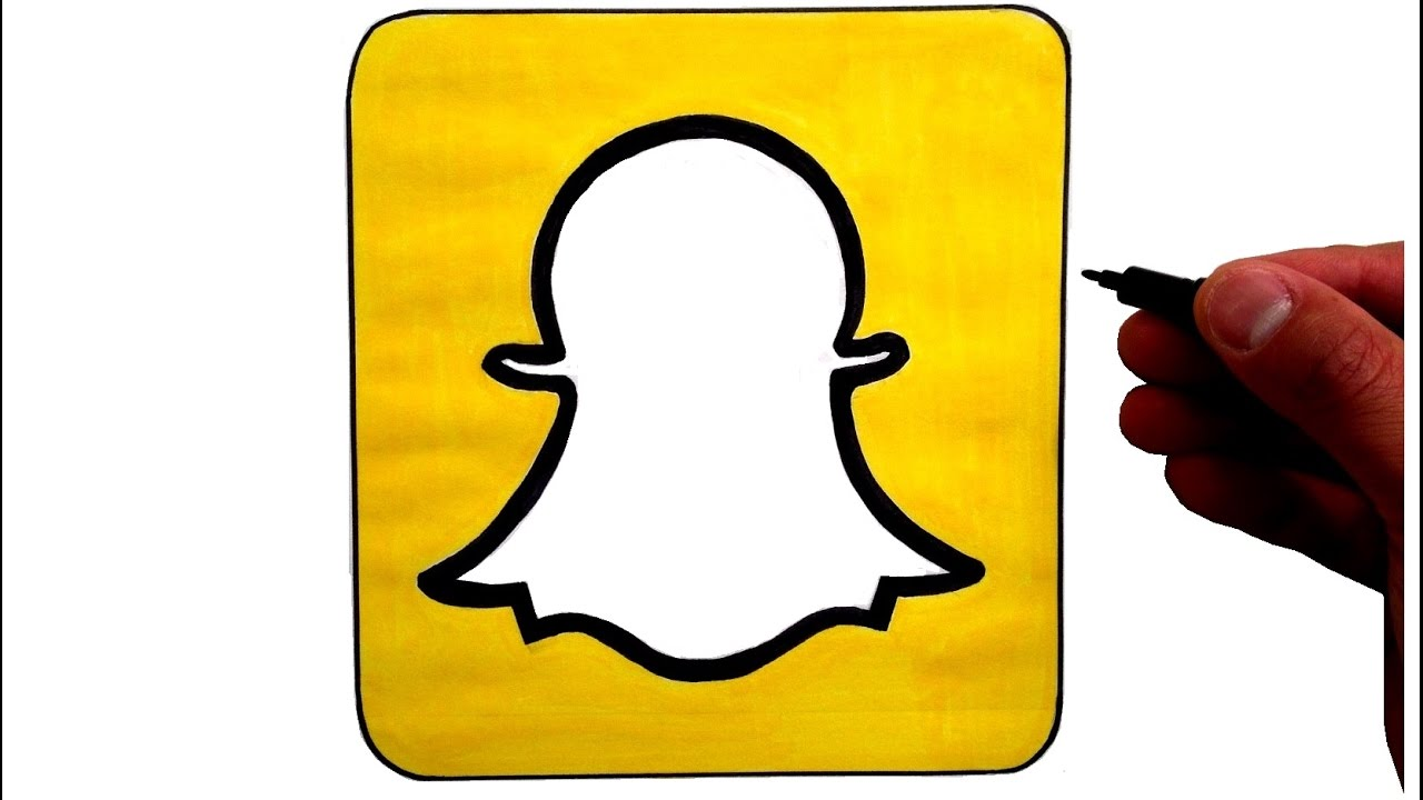 photo relating to Printable Snapchat Logo called Snapchat Brand Drawing at  Absolutely free for specific