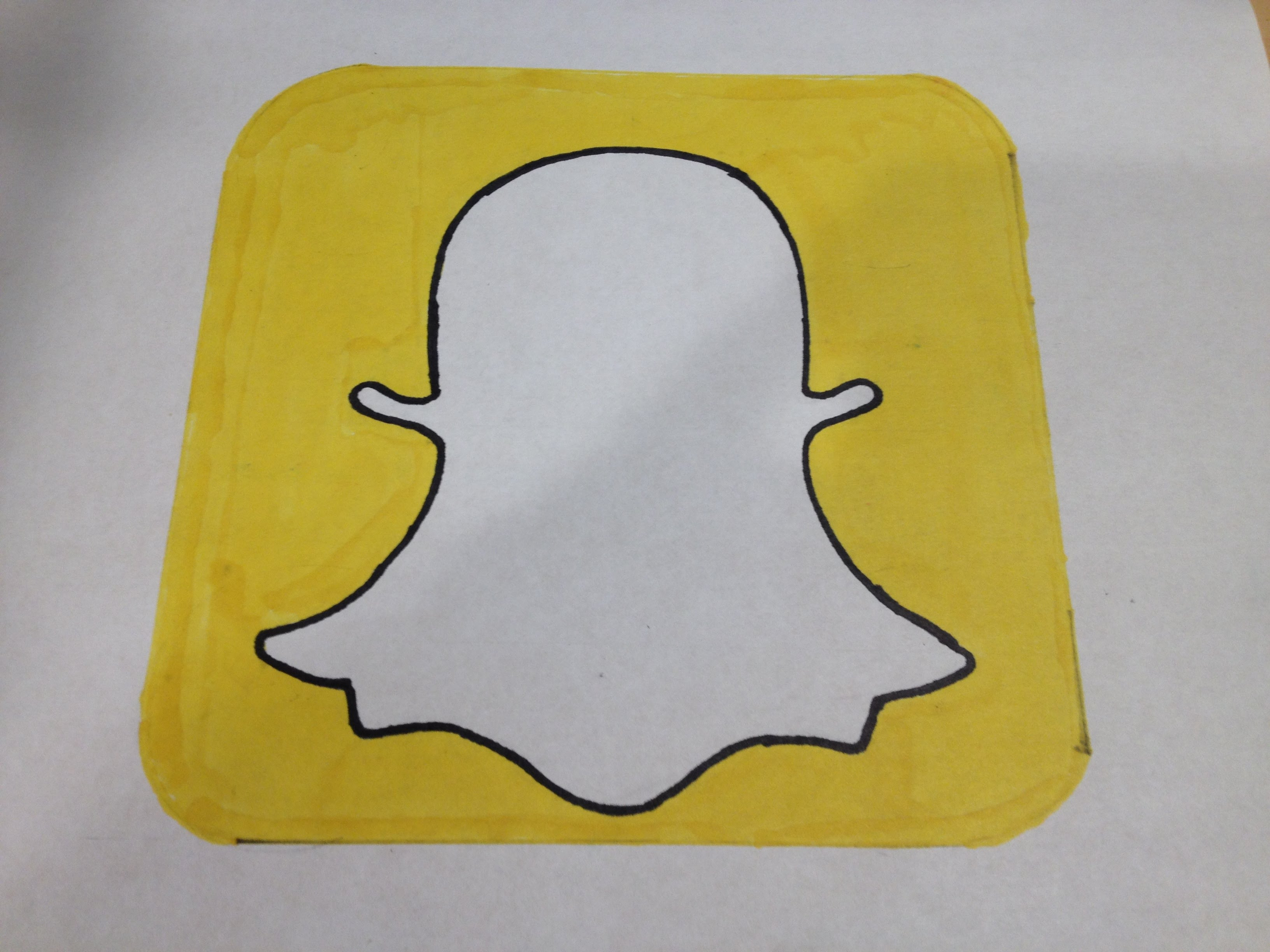 3264x2448 How To Draw The Snapchat Logo Logo Drawing