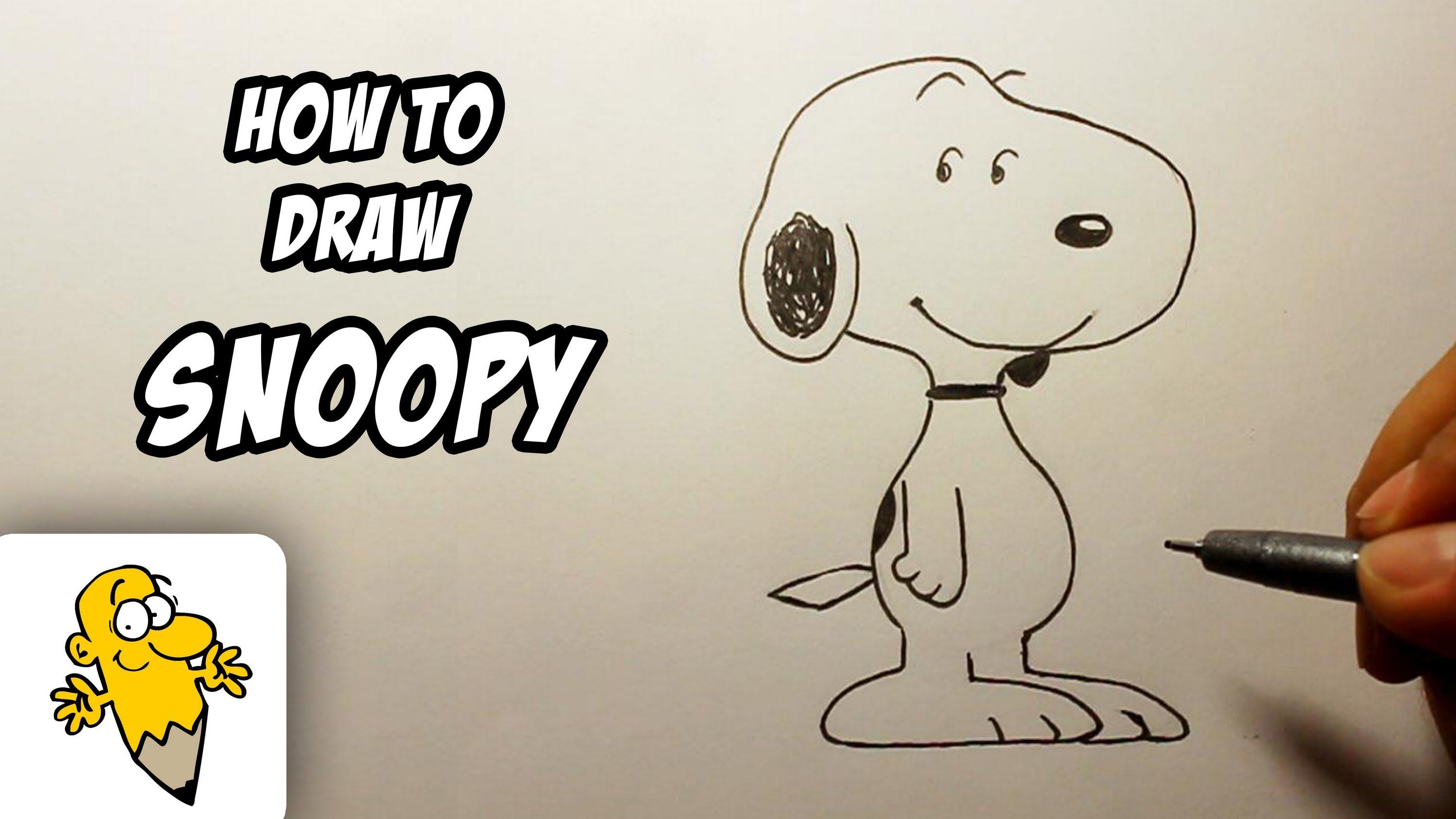 3000x1688 How To Draw Snoopy [Peanuts] Drawing Tutorial