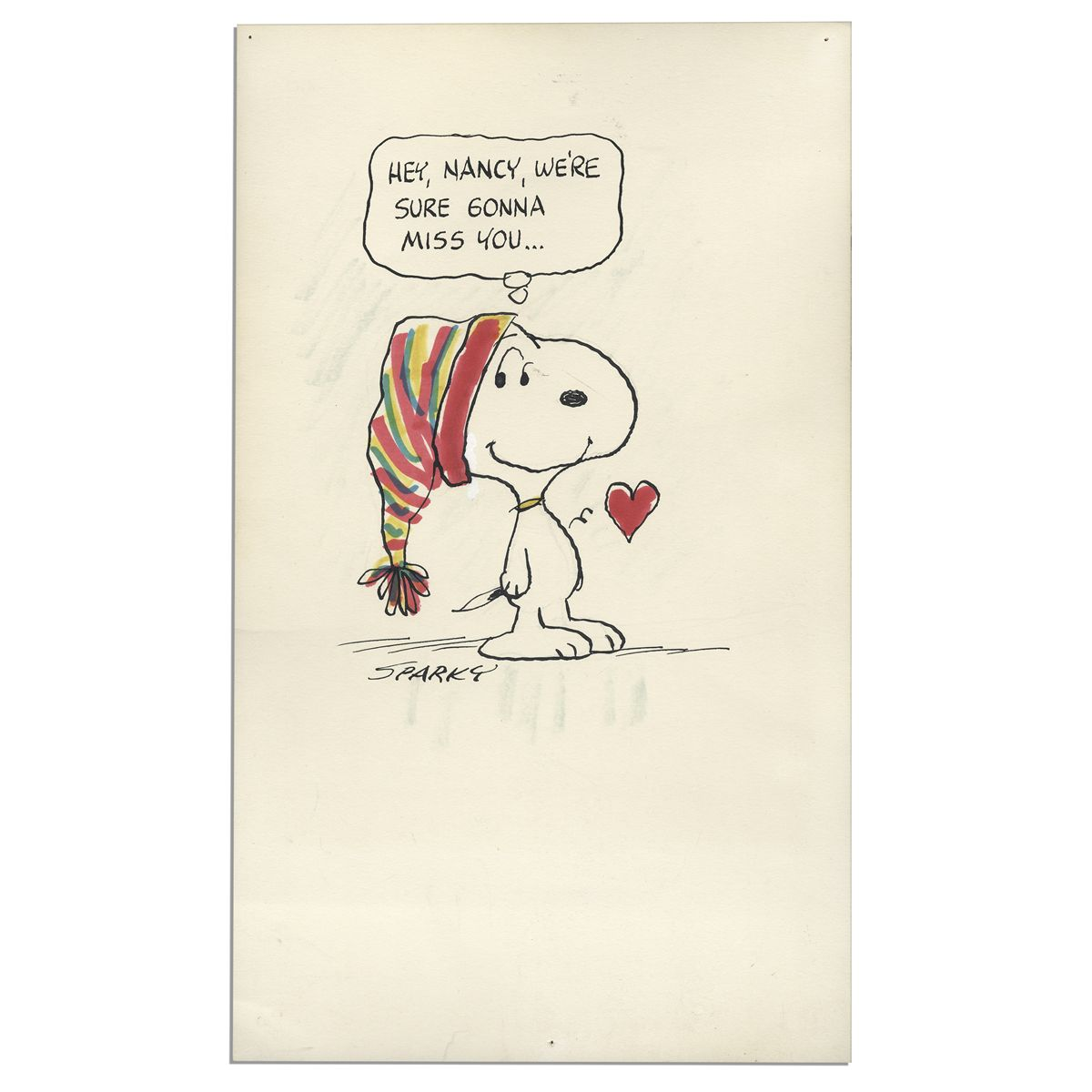 1200x1200 Charles Schulz Drawing Of Snoopy