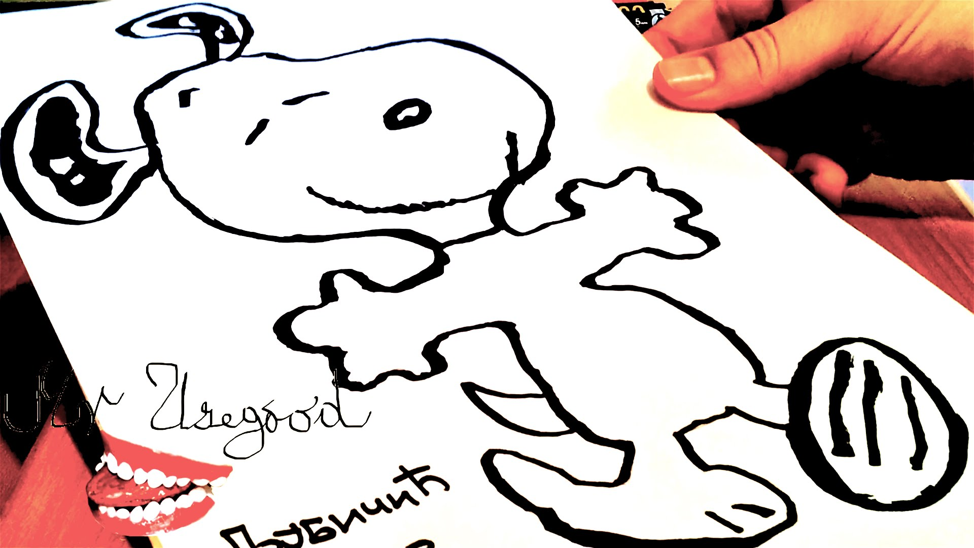 1920x1080 How To Draw Snoopy Step By Step Easy Dancing And Color