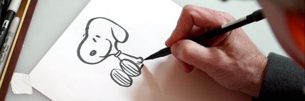 600x200 The Peanuts Movie Learn How To Draw Snoopy Collider