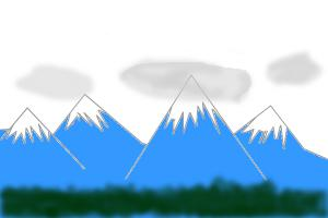 300x200 How To Draw A Mountain