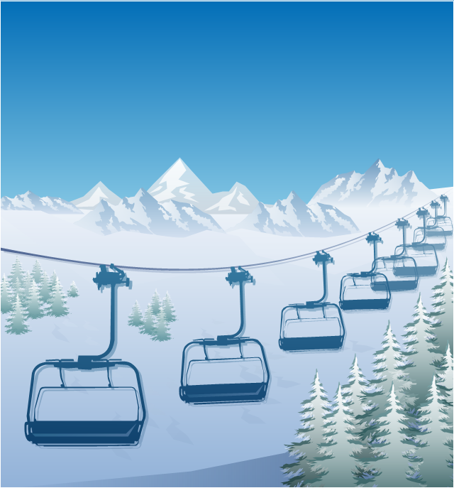 640x687 Ski Lift In The Snow Capped Mountains Winter Sports Alpine