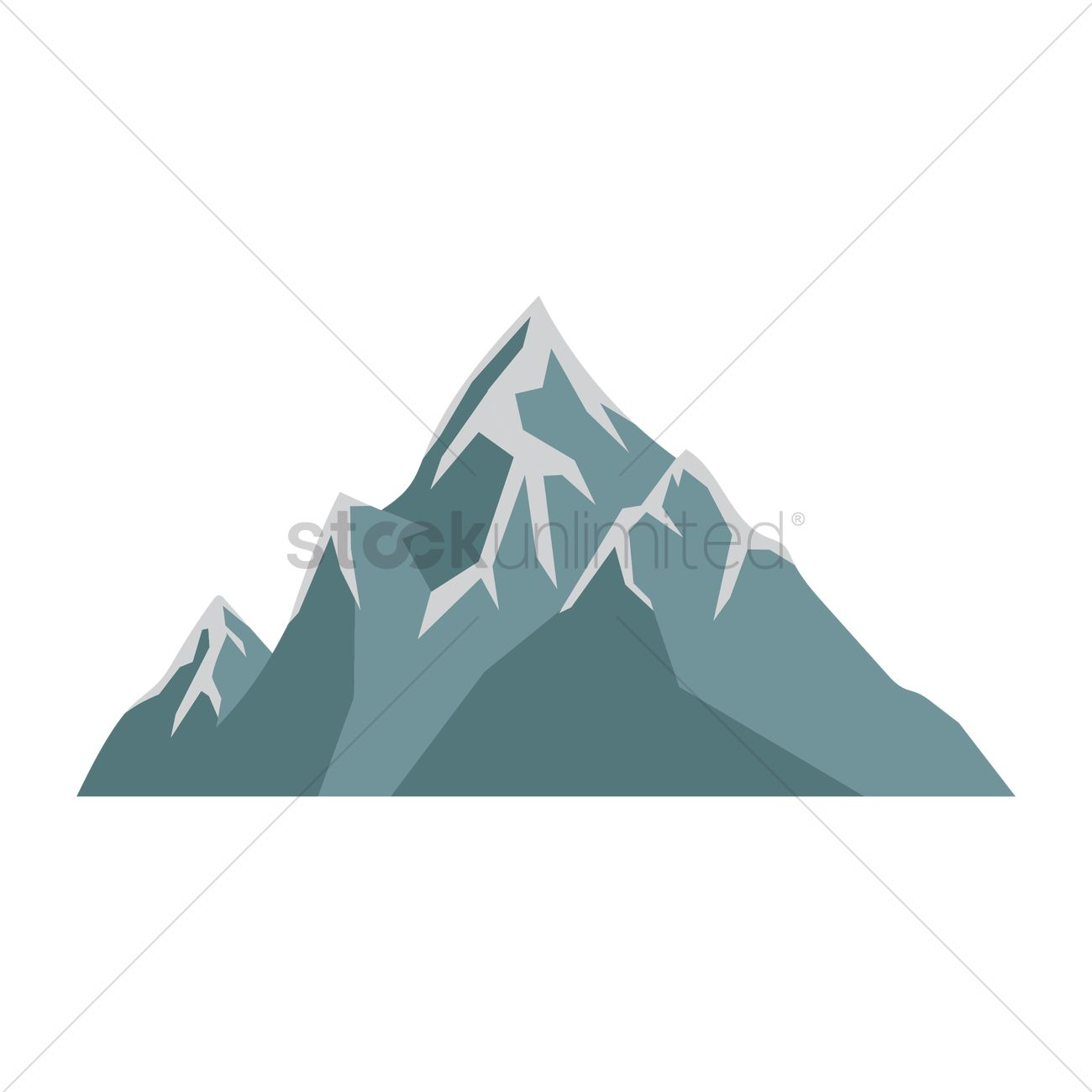 1300x1300 Snow Capped Mountains Vector Image