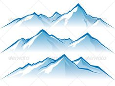 236x177 Vectors Of Snowy Mountain Peaks