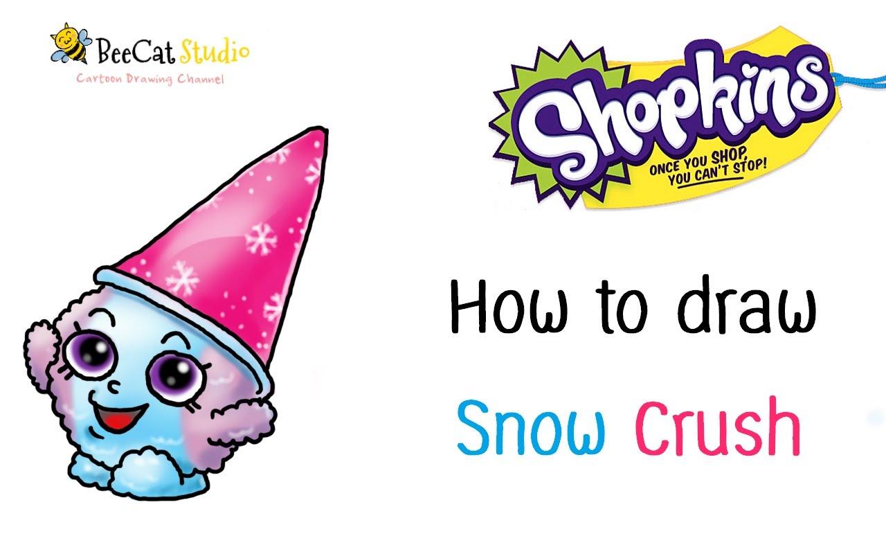 1280x800 How To Draw Shopkins Season 1 Snow Crush Very Easy