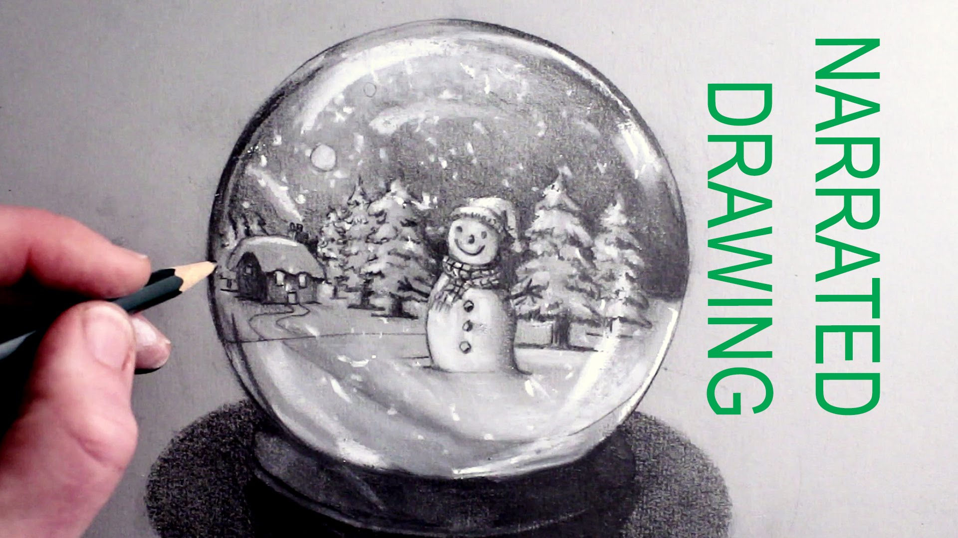 1920x1080 How To Draw A Snow Globe Narrated Drawing