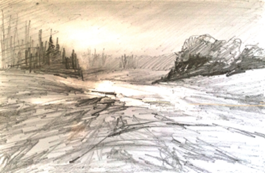 530x346 How To Paint A Snowy, Winter Landscape In Pastel With Les Darlow