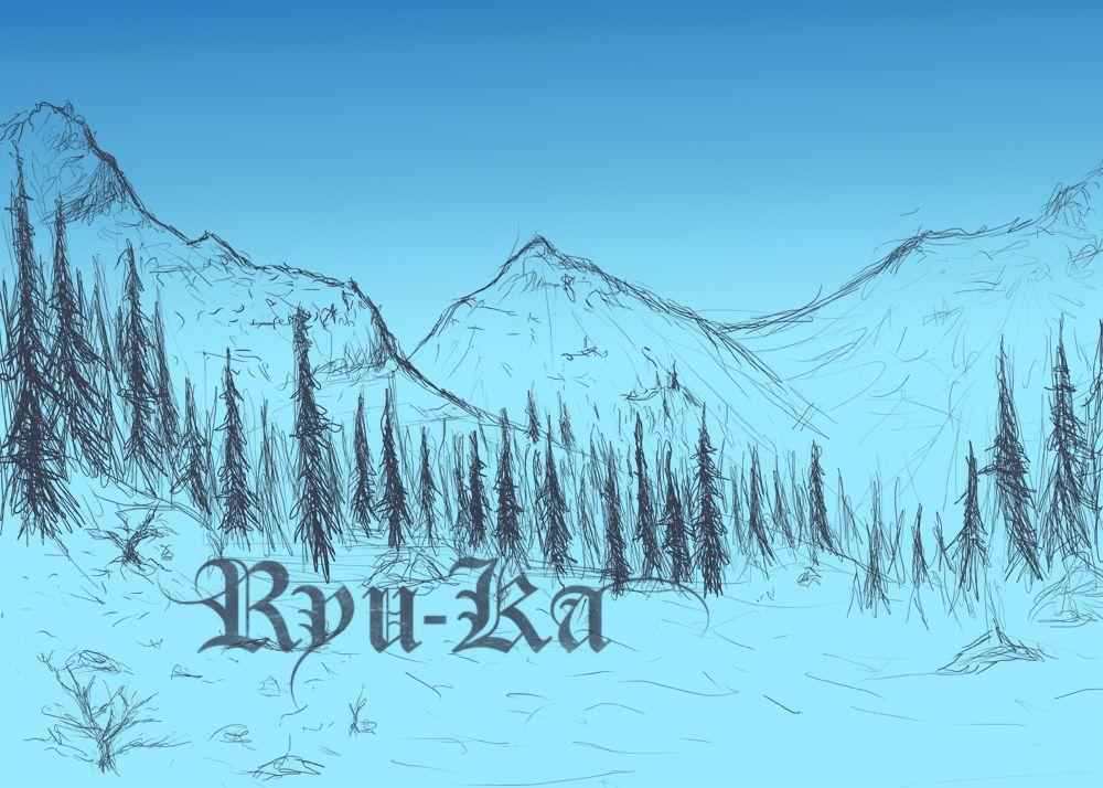 1000x714 Snowy Mountain Scenery Wip By Ryu Ka Journaling Sketch