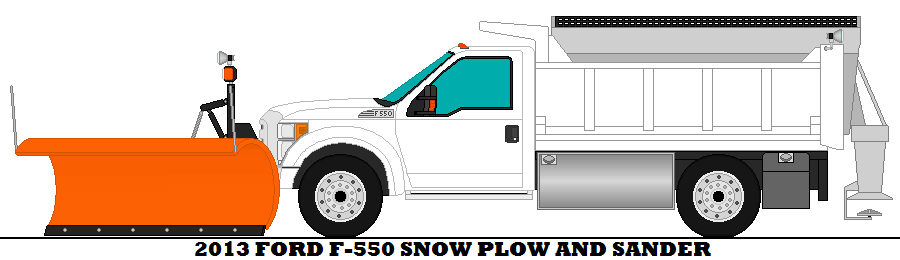 900x260 2013 Ford F 550 Snow Plow And Sander By