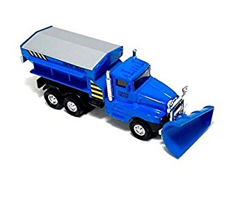 355x286 6 Cool Blue Diecast Snow Plow Salt Truck With Pull