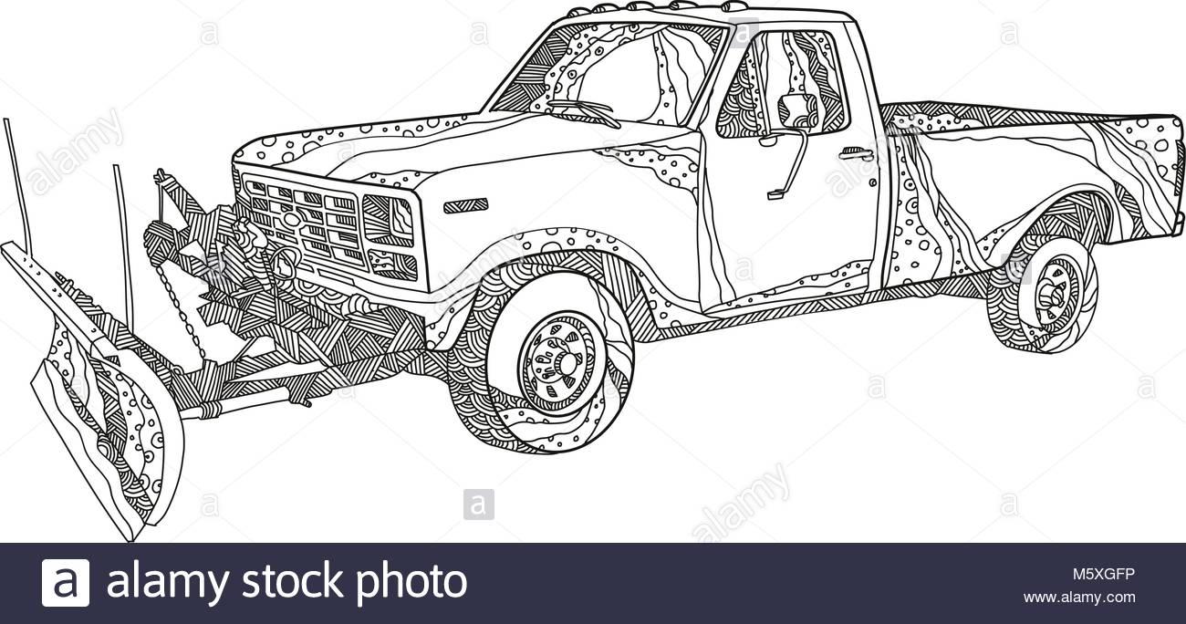 1300x684 Pickup Truck Snow Plow Stock Photos Amp Pickup Truck Snow Plow Stock