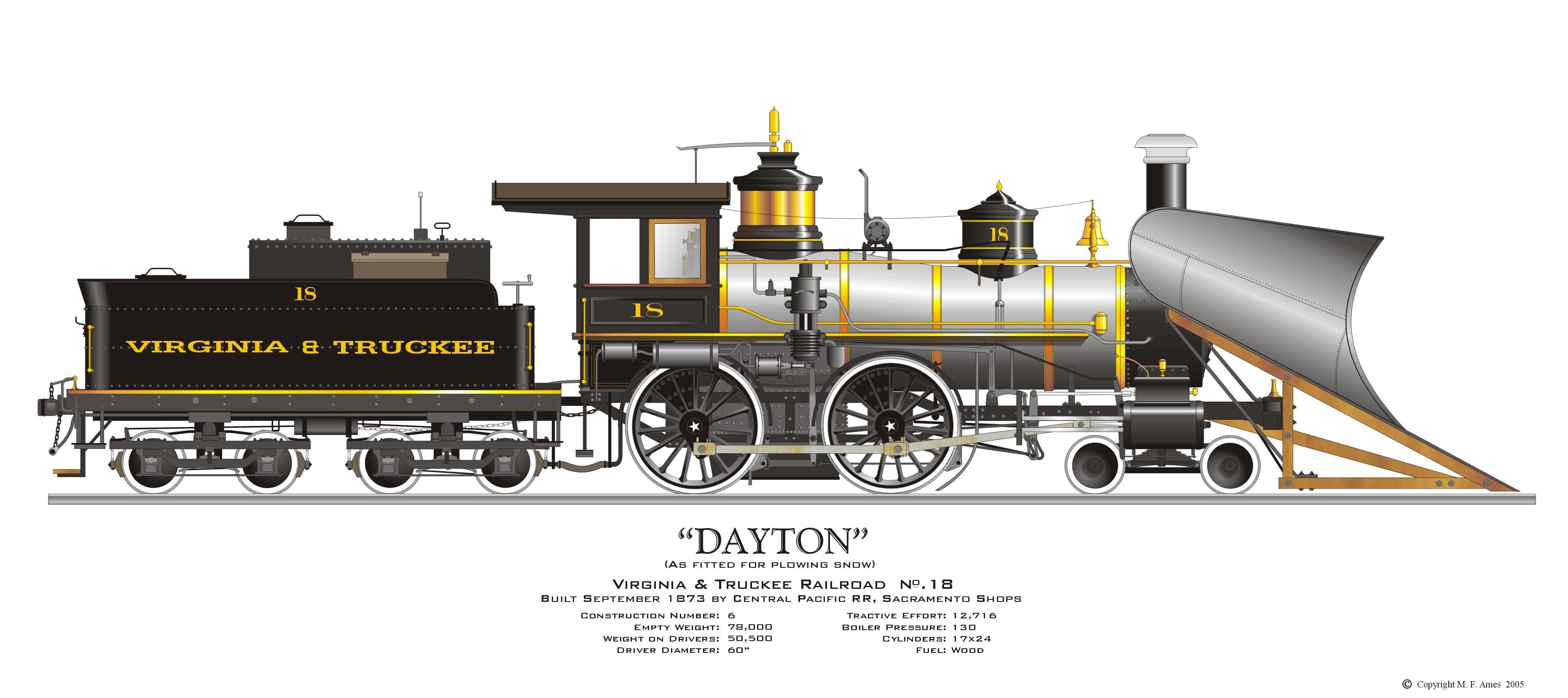 3720x1656 Virginia Amp Truckee, Locomotive