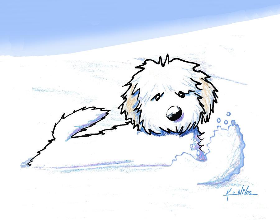 900x707 Winter Snow Plow Drawing By Kim Niles
