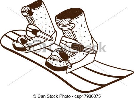 450x332 Snowboard Board. Snowboarding Board Isolated On White . Vectors