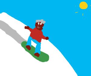 300x250 Morgan Freeman Snowboarding