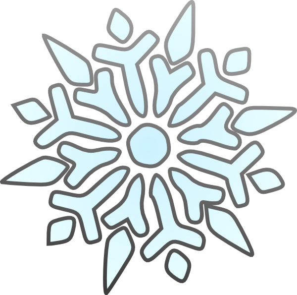 600x595 Erik Single Snowflake Clip Art