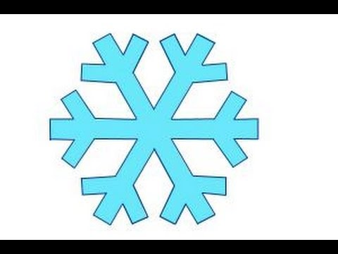 480x360 How To Draw A Simple Snowflake