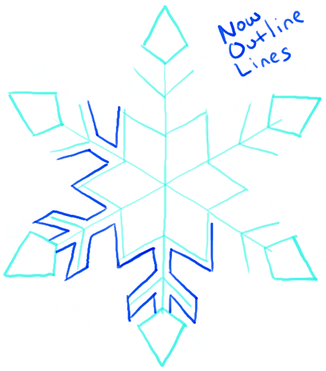470x534 How To Draw A Snowflake Step By Step Drawing Tutorial