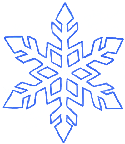 400x458 How To Draw A Snowflake Step By Step Drawing Tutorial Tutorials