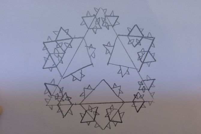 670x447 How To Draw The Koch Snowflake 7 Steps (With Pictures)