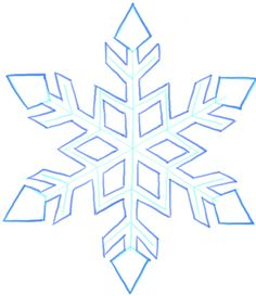 236x273 How To Draw A Snowflake Easy Art Instructions On How To Draw By