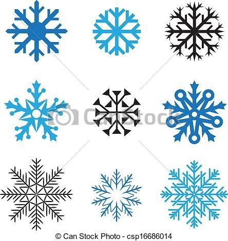444x470 Simple Snowflake Line Drawing