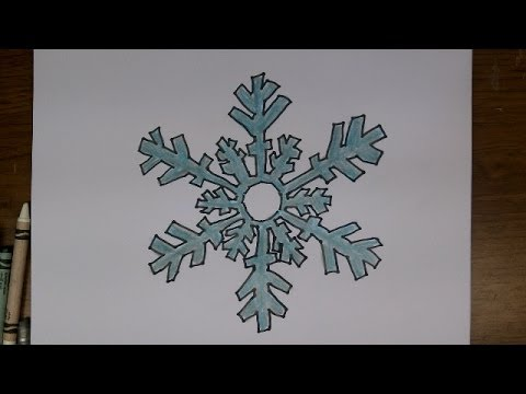 480x360 Drawing How To Draw Cartoon Snowflake