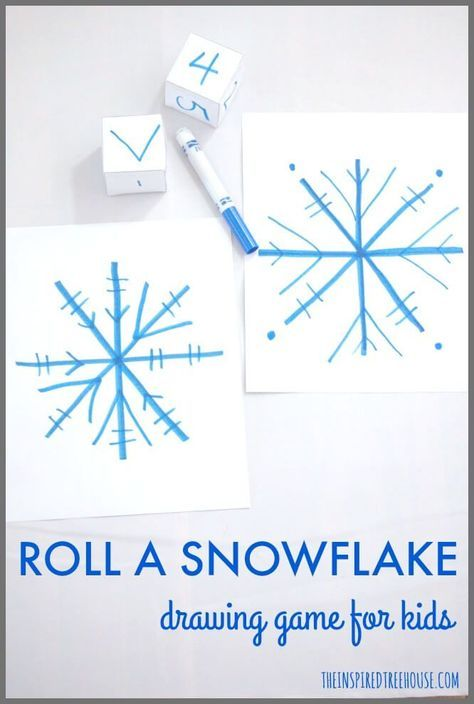 474x704 Roll A Snowflake Drawing Game For Kids Drawing Games, Fun