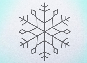 300x217 How To Draw Snowflake Official Websites