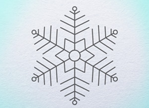 300x217 How To Draw Snowflake Archives