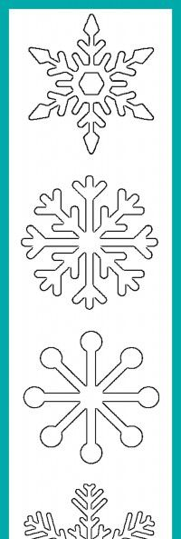 200x593 Free Printable Snowflake Templates Large Amp Small Stencil