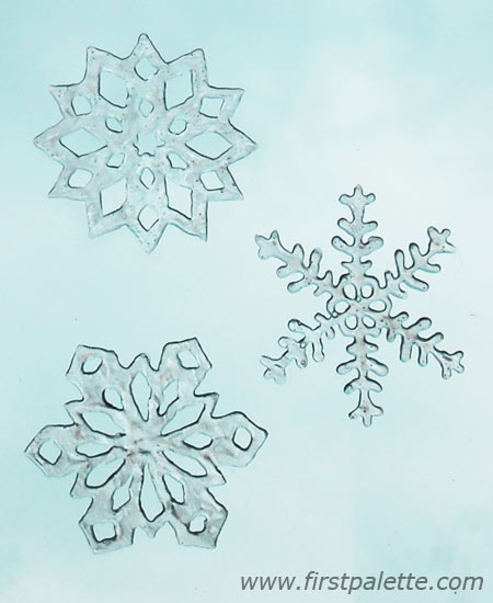 450x550 Snowflake Window Clings Craft Kids' Crafts