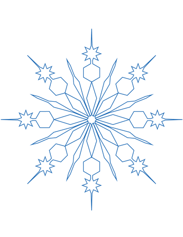 371x480 Snowflake Coloring Page Free Printable Coloring Pages