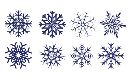450x288 8 Free Snowflake Vectors For Your Winter Designs Snow Flakes