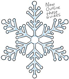 236x270 How To Draw A Snowflake Step By Step Drawing Tutorial Bullet