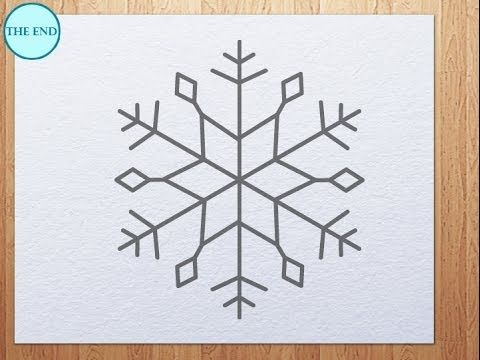 480x360 How To Draw A Snowflake Easy Art Instructions On How To Draw By