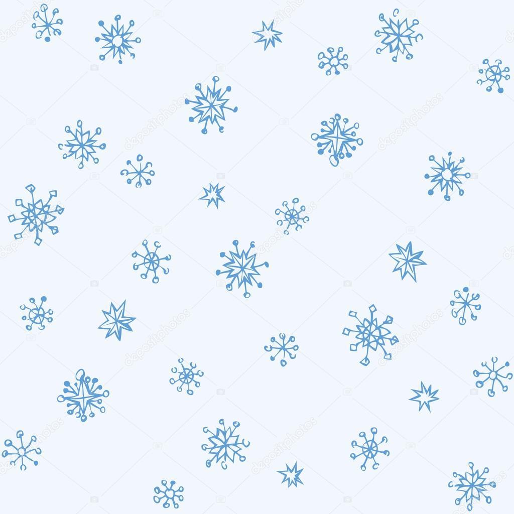 1024x1024 Pencil Drawing Snowflake Sketch Stock Vector Marinka