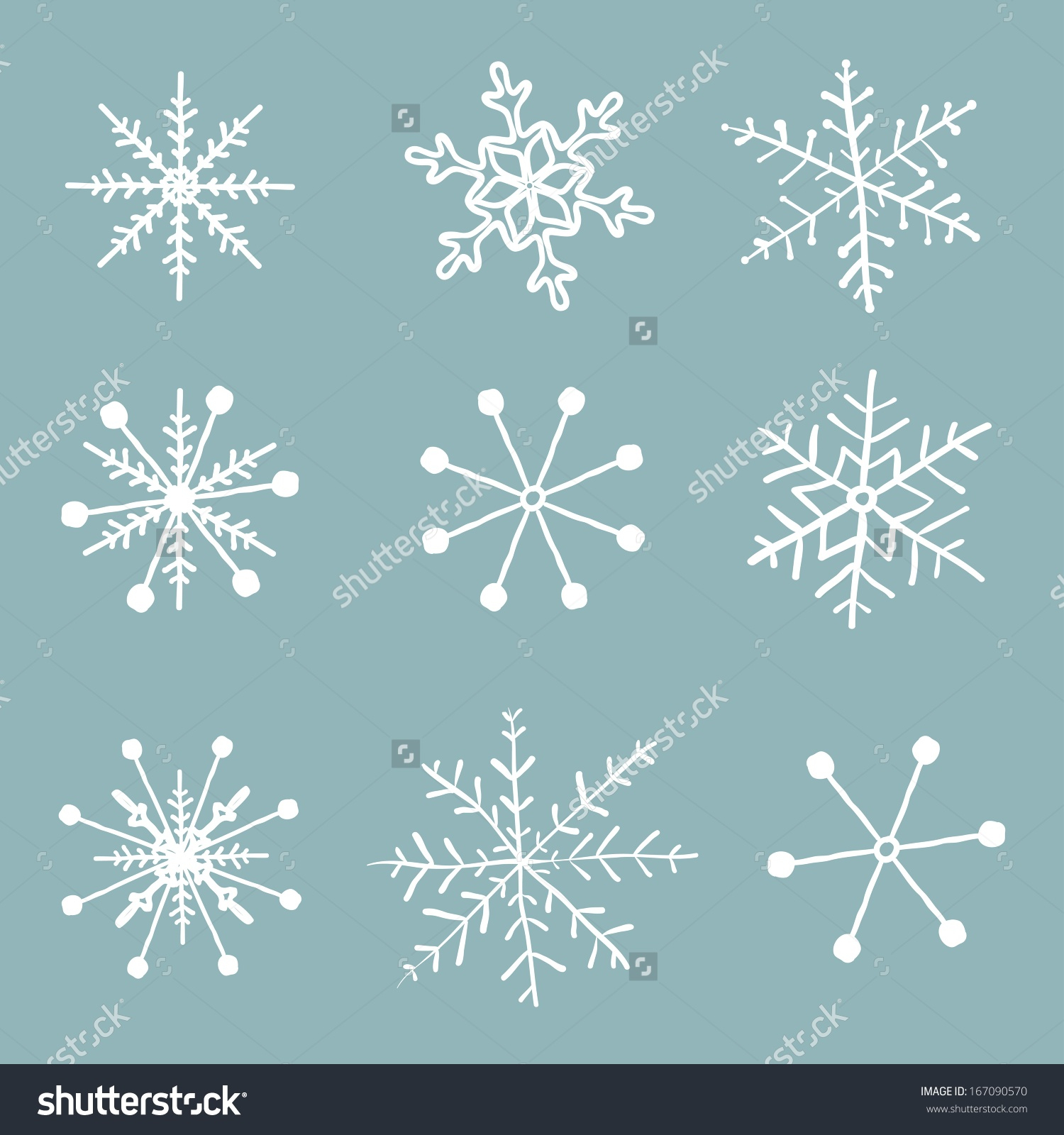 1500x1600 Simple Drawing Of A Snowflake Vector Set Simple Hand Drawn