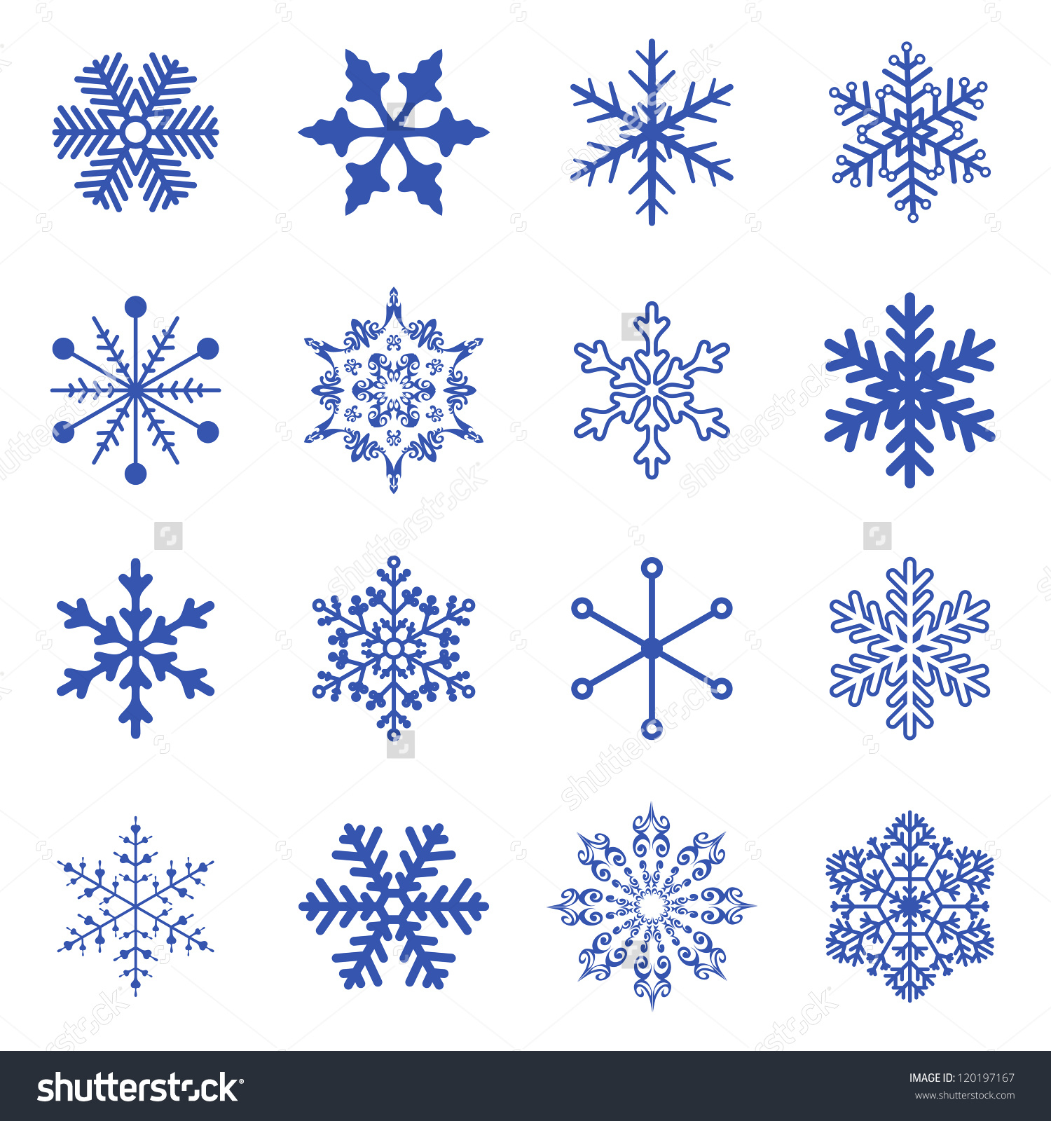 1500x1600 Simple Drawing Of A Snowflake Vector Set Simple Snowflakes Stock