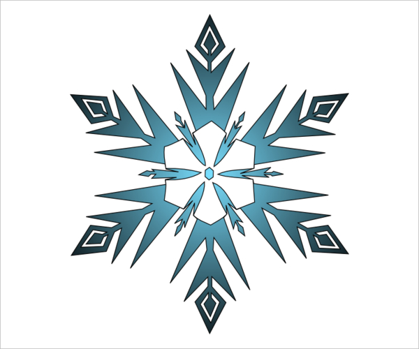 600x500 Snowflake Templates