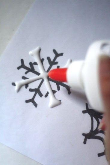 367x550 Glue Snowflakes Art Craft And Xmas