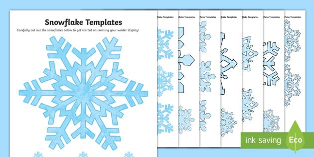 630x315 Snowflake Pattern Template